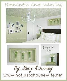 Beautiful DIY ideas for Your Master Bedroom from Not Just a Housewife. www.TheDatingDivas.com #DIY #Master #Stenciled