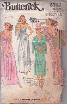 MOMSPatterns Vintage Sewing Patterns - Butterick 5703 Vintage 70 s Sewing  Pattern FOXY Designer John Kloss Disco 87ab1e027