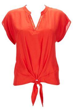 Orange Embellished Petite Top
