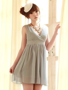 beautiful shades of grey dress $35 #asianicandy #chicstyle #partydress