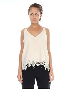 Gypsy 05 Punta Cana Laser Cut Cami in Moonbeam