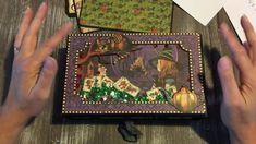 Halloween In Wonderland Graphic 45 Mini Album Magic Of Oz, Halloween Mini Albums, Alice Book, Book Journal, Journals, Mini Album Tutorial, Mini Photo, Graphic 45, Diy Scrapbook