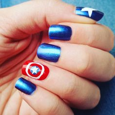 Captain America nails~ Bizarre Obsessions