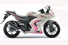 Versão Feminina da moto Ninja Kawasaki Ninja 250r, Ninja 250cc, Ninja Motorcycle, Rv Motorhomes, Dirt Bikes, Cars And Motorcycles, Dream Cars, Girly, Vehicles