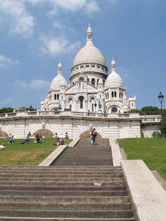 Sacre Couer- Paris, France. There's a wonderful cafe that let's you sit and enjoy this view while enjoying a nice meal. Won't ever forget it!