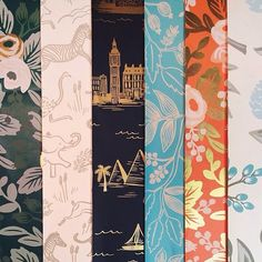 Beautiful new wallpaper from the Rifle Paper Co. and Hygge and West at National Stationery Show.