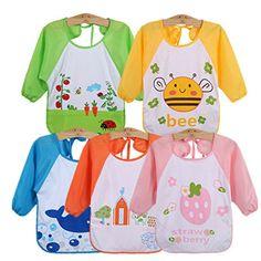 Haimoburg 5 teilige Wasserdicht �rmell�tzchen N�sseschutz Babyl�tzchen Baby-Latz 1 bis 3 Jahre alt (5 Farbe)