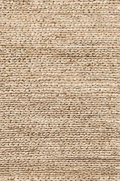 This chic, organic rug from Dash and Albert, in a natural hue, is made from jute, and is attractive option for any room. Dash and Albert Natural Jute Woven Rug Ships Free from Lavender Fields. Jute Rug, Woven Rug, Jute Fabric, Lohals, Affordable Area Rugs, Solid Rugs, Rug Texture, Fabric Textures, Dash And Albert