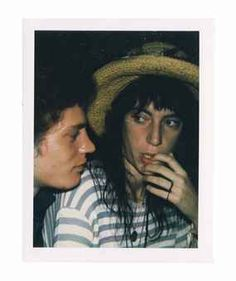 Robert Mapplethorpe and Patti Smith, 1970s Warhol
