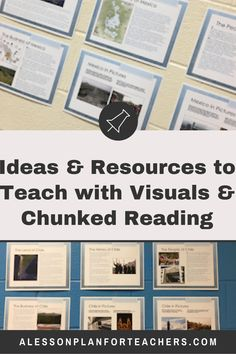 Using Visual Teaching & Chunking Techniques to Explore New Content Geography Lessons, Teaching Geography, Teaching Methods, Teaching Ideas, Modern World History, Teacher's Guide, Teacher Lesson Plans, Language And Literature, Study Skills