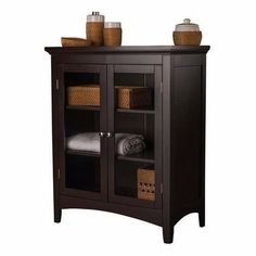 Modern Curio China Cabinet Bookcase Cupboard Dishes Dining Living Room Furniture