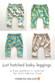 pattern for baby leggings