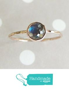 Labradorite Ring, Rose Cut Ring, 14k Gold Ring, Rose Gold Ring, Gemstone Ring, Women Jewelry, Stacking Rings, Stackable Accessory from Luxuring http://www.amazon.com/dp/B016N22ERU/ref=hnd_sw_r_pi_awdo_yS3hwb0ZFKAGR #handmadeatamazon