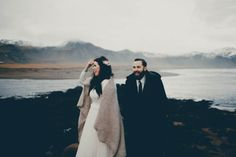 Ridiculously gorgeous imagery by Lauren Apel from Chelsa and Ryan's Iceland elopement