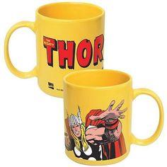 Thor Marvel Yellow Coffee Mug