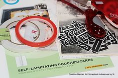 Scrapbook Adhesives by 3L Crafty Power Blog - Scrapbook Adhesives by 3L Alphabet Stamps, Ranger Ink, Calendar Pages, Hole Punch, Pattern Paper, Cool Words, Vintage Photos, Card Stock, My Design