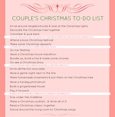 couple's christmas to do list
