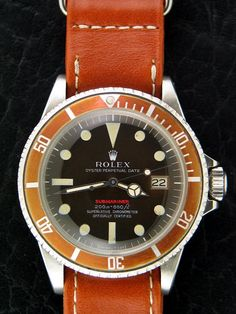 Rolex single red with faded bezel
