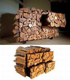 Odun yığını şeklinde yapılmış dolap...