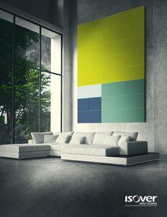 Funcional e bonito: o painel acústico garante muito mais conforto ao ambiente