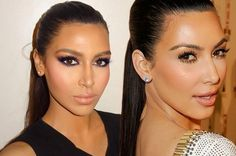 Meet Kim Kardashian's DOUBLE    Kim Kardashian  has inspired countless fans to copy her style and follow her beauty  tips - but this woman doesn't need any extra help to look like the  reality star.  In fact the strangers look so alike - fans are having trouble telling them apart. Beauty  blogger Sonia lives in Dubai and fans noticed the similarities after  she started an Instagram page with her sister Fyza a makeup artist. The pair share make-up tips alongside photos of models who Fyza has…