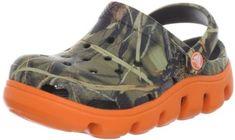 crocs 14077 Duet SPT RT Clog (Toddler/Little Kid),Chocolate/Orange,1 M US Little Kid crocs. $20.99