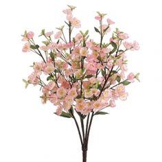 """26"""" Silk Apple Blossom Flower Bush -Pink (pack of 12) - FBB806-PK"""