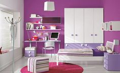 paint colors for teens bedrooms | Little girls purple bedroom painting color ideas