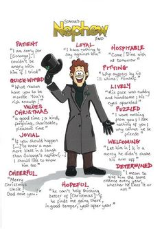This is from a series of posters I made for revision of the characters in A Christmas Carol. They each display quotes that would be useful to revise for the GCSE exam. This one is of Fred - Scrooge's nephew. I printed some out in for my stude. English Gcse Revision, Gcse English Literature, Exam Revision, Revision Tips, Revision Notes, English Writing, Revision Timetable, Timetable Template, Christmas Carol Quotes Gcse