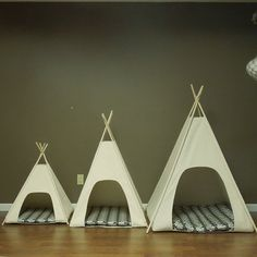 Modern Cat or Dog Teepee Tents - all in one pet beds, available in 3 sizes - the Tenthouse Suites by VintageKandyLiving