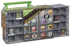Now you have a way to safely store and display all your collectible Mini Figures! Featured in perfect cube shape, this Minecraft Collector Case is designed to hold 32 mini-figures (not included) so that you never have to be without your personal collection of characters. The case also doubles as a play set! Turn the display side over to reveal a Minecraft-inspired environment for which to play with your mini-figures. Close up the case and carry it by the handle - the world of Minecraft goes…