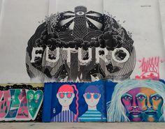 #ArtSocietatEducacioUB2016 #graffiti El mural de Futuro es va realitzar el juny de 2015 al Carrer de l'Agricultura número 94, al barri de Poblenou, a Barcelona, gràcies al recolzament de Marc de Rebobinart i el seu programa BIG WAAALLS. Està fet per Boamistura, un equip multidisciplinari de 5 joves artistes creat a finals de 2001, que entenen el seu treball com una eina per a transformar el carrer i crear vincles entre les persones. MUÑOZ, Marta