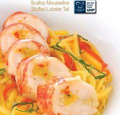 Lobster and Scallop Recipes Lobster Recipes, Seafood Recipes, Diet Recipes, Seafood Dishes, Fish And Seafood, Stuffed Lobster, Atlantic Canada, Scallop Recipes