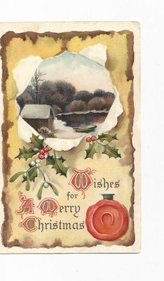 A personal favorite from my Etsy shop https://www.etsy.com/listing/213887107/a-beautiful-vintage-1910-merry-christmas