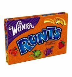 Wonka Runts sont des délicieux petits bonbons dursen formes de mini fruits. Par exemple, le bonbon au goût banane est en forme de mini bana...