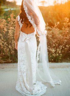 Long hair, long veil, long bow