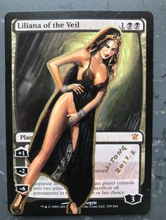 Altered MTG Liliana of the Veil Sexy Lingerie BY SITONG