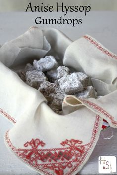 Use fresh herbs from the garden to make anise hyssop gumdrops for an herbal sweet treat.