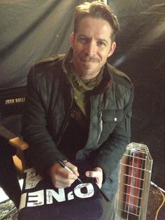 "The ""Traveling Jersey"" visits the Once Upon A Time Set Sean Maguire"