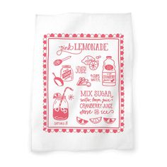 Keep your favorite childhood drink on hand in your kitchen with this adorable Pink Lemonade Tea Towel by Belle & Union Co.