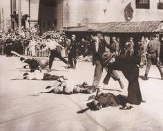 Comunistas siendo ejecutados por nacionalistas chinos en Shangai 1946-49