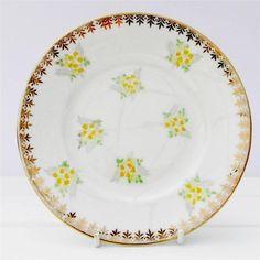 Vintage Tea Plate Salisbury Bone China Yellow Flowers Gold