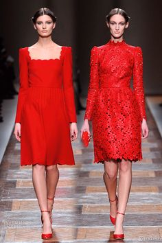 Red Dresses | Valentino Fall 2012