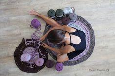 Dywan się robi ;) | Crochet rug in progress ;) #owoceszycia