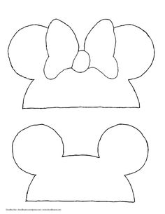 Mickey and Minnie photo booth props! #diy #2016 #photobooth
