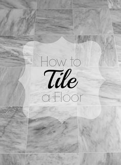 Stacy of Not Just A Housewife shows us her tips for how to tile a bathroom floor. Just wait till you see the before & after!