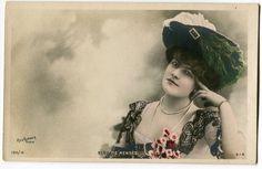 Vintage French RPPC Postcard Actress Stage Star Elsa de Mendes   eBay
