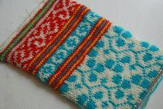 cheerful colors. latvian mitten.