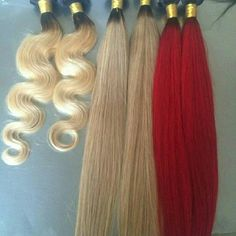 "Ombre Brazilian hair red and blondes available 100% human hair extensions 8a quality, soft and shiny. Long lasting with proper care. 18"" straight Gucci Accessories Hair Accessories"
