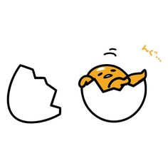 gudetama is god ❤ liked on Polyvore featuring filler and food